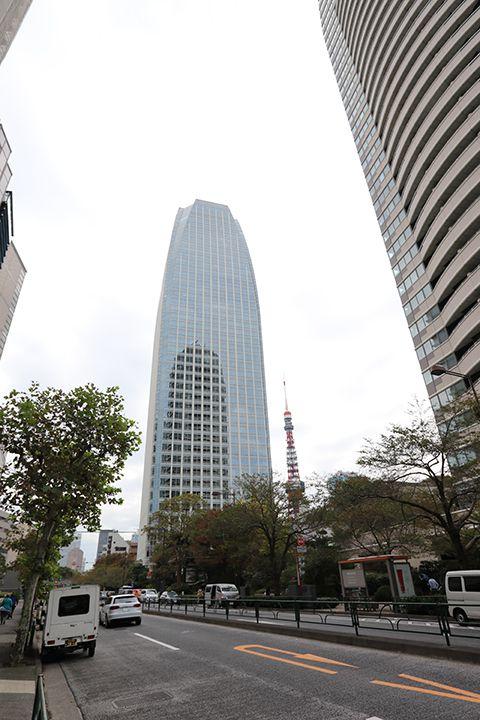 オフィスの近くから見える東京タワー